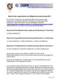 Bericht des Jugendwarts für die Mitgliederversammlung 2013…