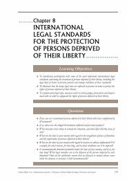 international legal standards for the protection of persons deprived ...