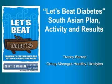 CMDHB Lets Beat Diabetes South Asian Plan, Activity and Results