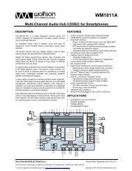 WM1811A - Wolfson Microelectronics plc