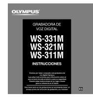 WS-331M WS-321M WS-311M - Olympus America