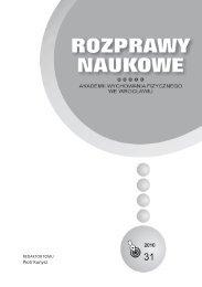 Rozprawy Naukowe 31 - Akademia Wychowania Fizycznego we ...