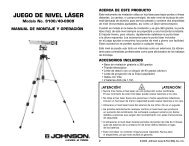 Laser Level Manual.qxd - Johnson Level