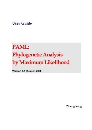 PAML: Phylogenetic Analysis by Maximum Likelihood