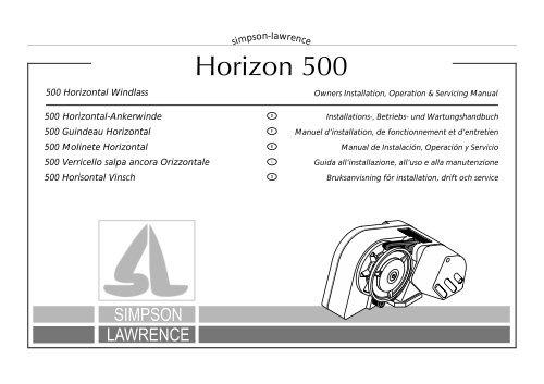 Lewmar Windlass Parts Diagram