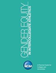 NCAA Gender Equity Manual - Johnson C. Smith University Athletics