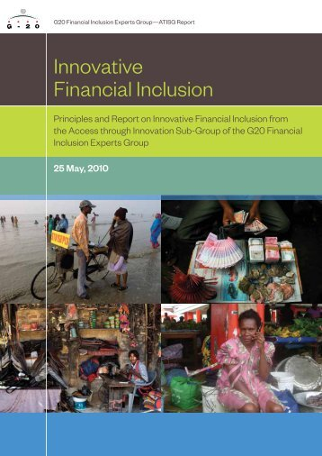 Principles and Report on Innovative Financial Inclusion - GPFI