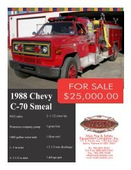 1988 Smeal Cross Mount - Weis Fire & Safety Equipment Company ...