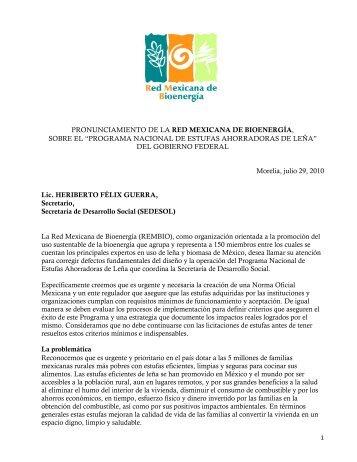 programa nacional de estufas ahorradoras de leña - Asociación ...