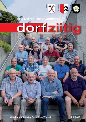 Dorfziitig Juli 2013 - Gemeinde Winkel