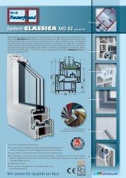 System CLASSICA MD 82 Kunststoff - W+D Fensterfreund