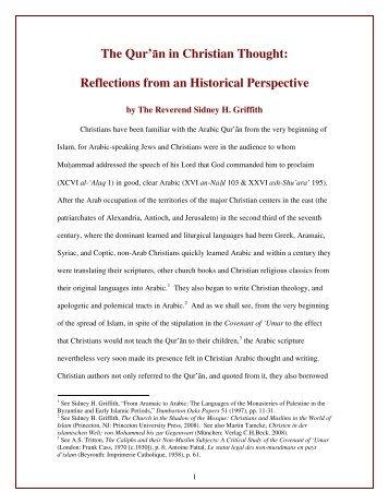 The Qur'ān in Christian Thought - Saint Benedict Catholic Church