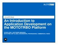 What is MOTOTRBO? - Motorola Solutions Launchpad
