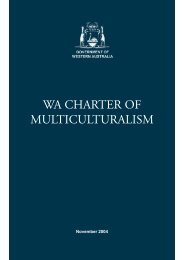 WA Charter of Multiculturalism - Office of Multicultural Interests