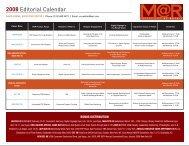 2008 Editorial Calendar - NewBay Media