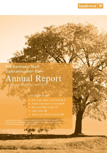 Annual report 2010 - SuperFacts.com
