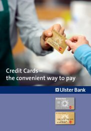 Credit Cards... - Ulster Bank