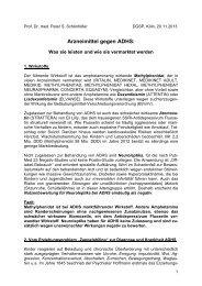 Text »Arzneimittel gegen ADHS - DGSP