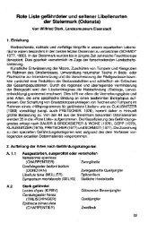 Rote Liste gefährdeter und seltener Libellenarten der Steiermark ...