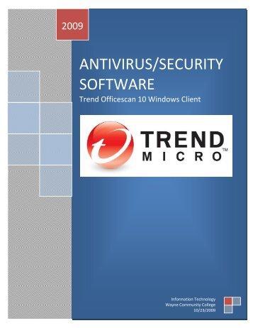 antivirus/security software - Wayne Community College | Internal ...