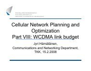 Cellular Network Planning and Optimization Part VIII: WCDMA link ...