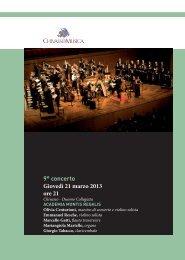 9° concerto Giovedì 21 marzo 2013 ore 21 - Chivasso in Musica