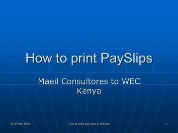 How to print PaySlips