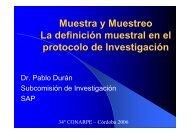 Muestra y Muestreo La definición muestral en el protocolo de ...