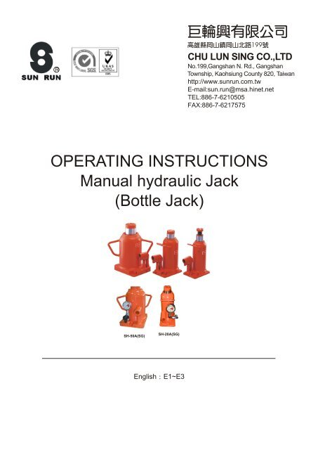 Hydraulic Bottle Jack Repair Manual Manual Guide