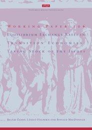 Equilibrium Exchange Rates in Transition Economies