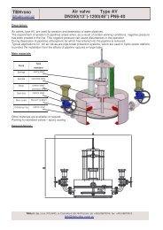 """TBH Air valve Type AV DN350(13"""")-1200(48"""") PN6-40"""