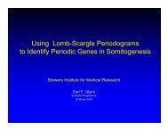 Using Lomb-Scargle Periodograms to Identify Periodic Genes in ...