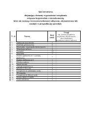 Spis inwentarza i wykaz dokumentacji