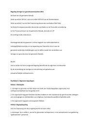 Regeling leningen en garantievoorwaarden ... - Gemeente Katwijk