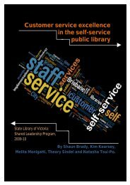 Customer service excellence in the self-service public