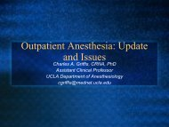 Outpatient Anesthesia: Update And Issues – CANA