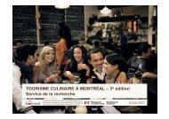 TOURISME CULINAIRE À MONTRÉAL – 3e édition Service de la ...