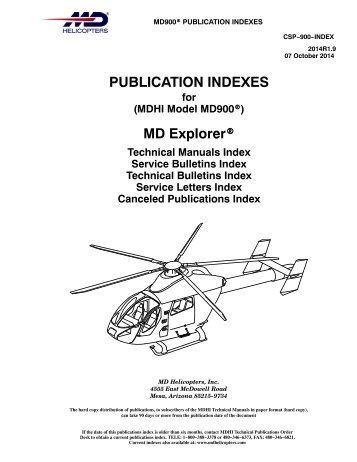 PUBLICATION INDEXES MD Explorer® - MD Helicopters