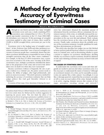 Eyewitness-testimony