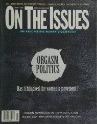 Has it hijackedthe women's movement? - On The Issues Magazine