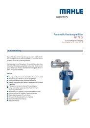 Automatik-Kantenspaltfilter AF 72 G - MAHLE Industry - Filtration