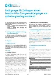 Bedingungen für Zahlungen mittels Lastschrift im - Deutsche ...