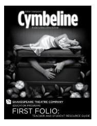 Cymbeline First Folio - The Shakespeare Theatre Company