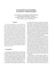 Towards Driver Visibility Descriptors - Pages perso - LCPC