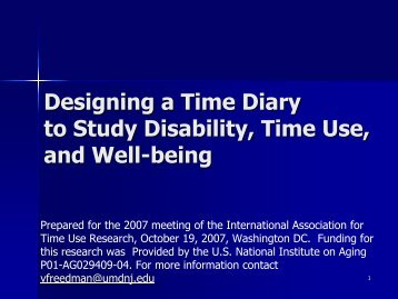 Designing a Time Diary to Study Disability, Time Use, and Well-being
