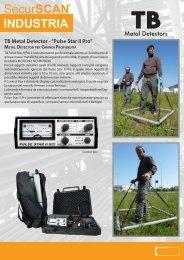 "TB Metal Detector - ""Pulse Star II Pro"" - Carlesi strumenti"