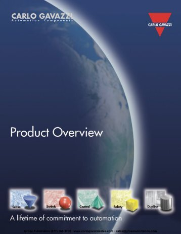 Download Catalog in PDF - Carlo Gavazzi