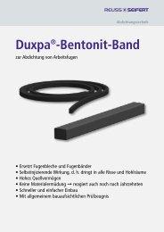 Duxpa Bentonitband - Reuss-Seifert GmbH