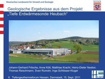 Tiefe Erdwärme- sonde Heubach - HessenEnergie GmbH