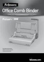 Office Comb Binder - Fellowes